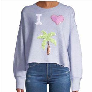 Wildfox • Cherie I Love Palm Tree Sequin Sweater